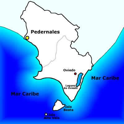 Resultado de imagen para imagen del mapa geografico de Pedernales