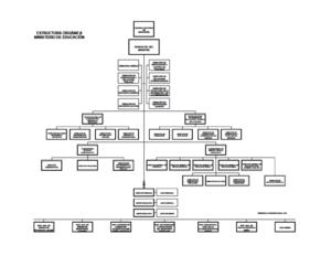 Estructura org nica del ministerio de educaci n for Estructura organica del ministerio del interior